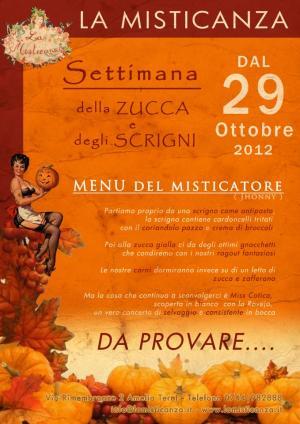 Settimana della zucca e degli scrigni - Ristorante Pizzeria La Misticanza - Amelia